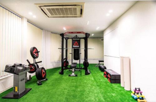 エステサロンなのに珍しいのは、このトレーニングルーム!